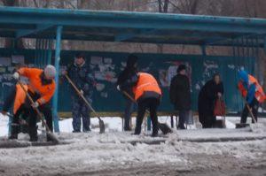 ручная  уборка  пос. площадок  ул. Пугачевский тракт